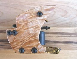 quilted maple tattoo machine by vankuilenburg