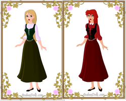 Fairytale Series: Snow White and Rose Red by LadyBladeWarAgnel