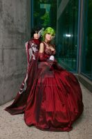 C.C. and Lelouch Prom 05 by DownFall2448