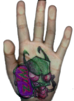 IZ: Zim: Hand Drawing by Lavenkitty