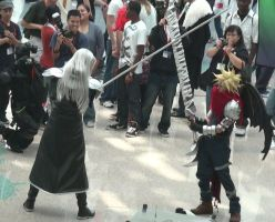 Sephiroth and Cloud Strife from Final Fantasy VII by trivto