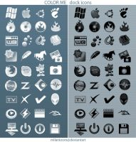 Color Me_dock icons by milanioom