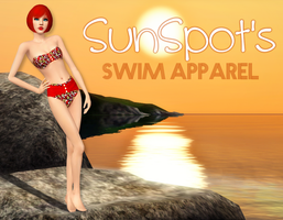 Swim Apparel Ad w/sims 3 by sweetstop7