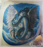 Angel chest by state-of-art-tattoo