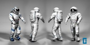 Space Suit display by christianthomas3d