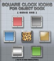 Square Clocks Serie One by flexible
