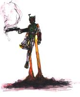 boba fett sketch by giberwitz