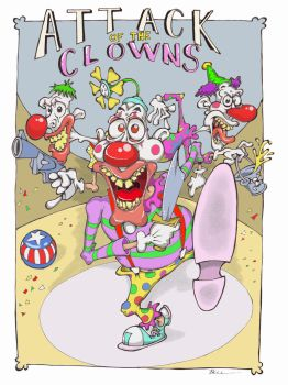 Attack of the Clowns by Cockatoons