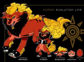 Digimon OC - Fumon Evo. chart by SoloAzume