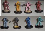 Red Vs Blue haloclix repaints by MegaSquid