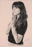 Zooey Deschanel graphite drawing by Chubbylemonx