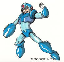 Mega Man Warm Up by Bloodzilla-Billy