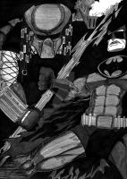batman vs predator by fernandochapado