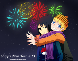 NaruSasu - Happy New Year 2013 by Ginryuzaki