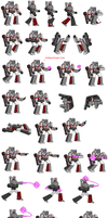 Megatron Sprite Sheet by MercuryX