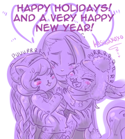 Seasons Greeting - Blueberries and Gnar by Kasugaxoxo