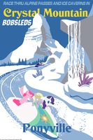 Crystal Mountain Bobsleds Poster by Avastindy