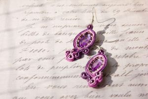 Earrings Orchid by AFahrbach
