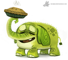 Daily Painting 772. Tree Trunks by Cryptid-Creations