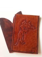 W.I.P. ID cards holder - medieval cat with fiddle by Madenn