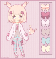 [Adoptable-Sold] Heart Rabbit by PuffyPrincess