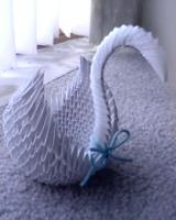 first modular origami - Swan by xxLiLLiE