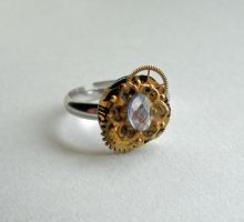 Floral Steampunk Ring by Sercive