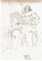 Conan_Sonja sketch by thepunisherone