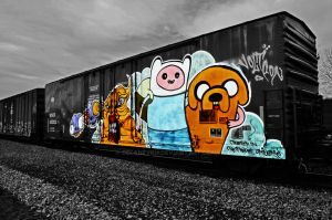 Adventure Time Traincar by DelaneyKH