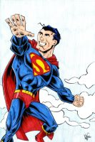 Superman Commission by drawhard