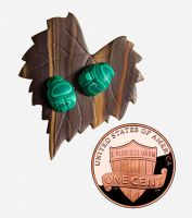 Scarabs on Faux Wood Leaf by FauxHead