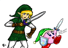 iScribble- Link + Kirby Collab by DizzieDoodles