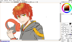Wip -luciel mystic messenger by Fhilippe124