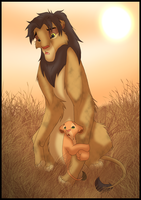 Nala and Ni by Ashmira-Lioness