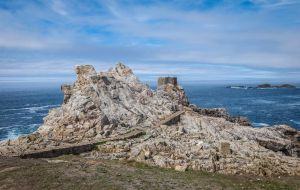Ouessant Island 03 - Ruined Tower on a cliff by HermitCrabStock