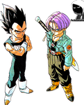 Vegeta and Trunks Render by fvckfdaname