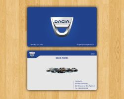 Dacia bussiness card by TRIO-3