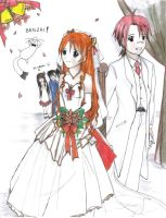 Negima Wedding by KziraLee