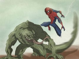 Spidey vs Lizard by Chrisgemini