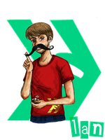 Smosh - Ian with mustache by GothicShoujo