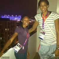 Candace Parker and Allyson Felix balcony by lowerrider