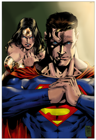 Wonder Woman and Superman by NimeshMorarji