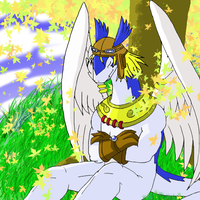 Shiron resting COLORED by BlackKnight911