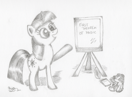 Filly Twi Teaches Smartypants by KuroiTsubasaTenshi