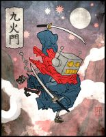 Kukamon Samurai Ukiyoe by StriderS