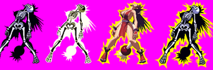 Mai Shiranui KOF XIII Electrocuted Spritesheet by Xenomic