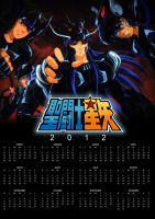 Calendario Saint Seiya 2012 by poderheavy