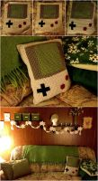 Gameboy Pillow by gabiemiller