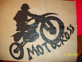 Motocross poster by sleepinartist