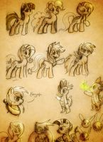 Pony Sketched and Edited by JustAGirlOnline